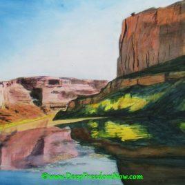 Labyrinth Canyon – Watercolor 18″x24″ (45.7cm x 61cm)